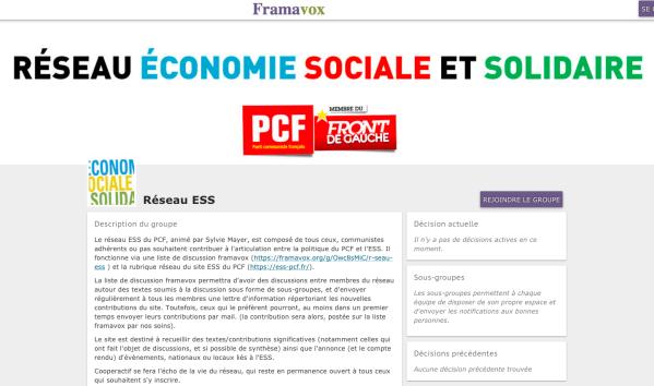 Réseau ESS PCF